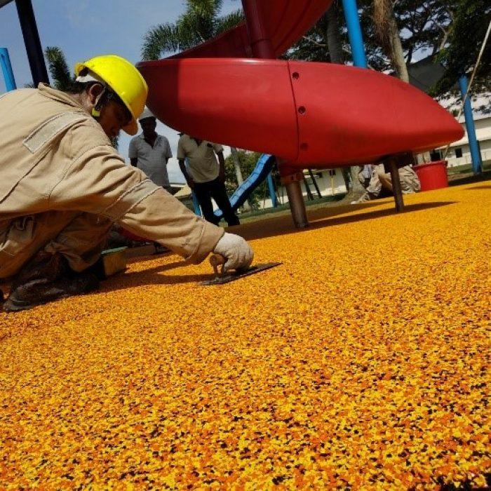 Outdoor playground flooring safety in Brunei Darussalam